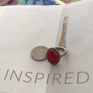 Jewelry - Red agate in sterling 7.25